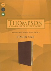 KJV Thompson Chain-Reference Handy-Size Bible--soft leather-look, brown