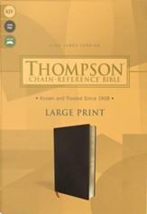 KJV Thompson Chain-Reference Large-Print Bible--bonded leather, black