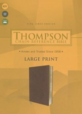 KJV Thompson Chain-Reference Large-Print Bible--soft leather-look, brown
