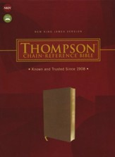 NKJV Thompson Chain-Reference Bible--soft leather-look, brown