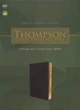 ESV Thompson Chain-Reference  Bible--bonded leather, black
