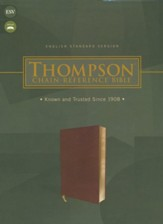 ESV Thompson Chain-Reference Bible--soft leather-look, brown