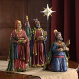Real Life Nativity, 4 Piece Three Kings and Star, 10.25-inch size