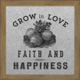 Grow in Love Galvanized Metal Plaque