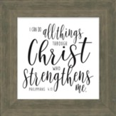 All Things Through Christ Box Plaque