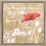 Bloom with Grace Framed Canvas