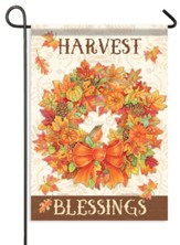 Harvest Wreath, Blessings Flag, Small