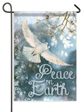 White Dove, Peace On Earth Flag, Small