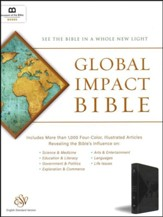 ESV Global Impact Bible, Charcoal Leatherluxe