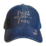 Faith Over Fear Cap, Denim