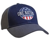 One Nation Under God Cap, Grey and Blue