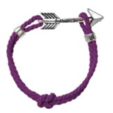 Arrow, Follow Jesus, Bracelet, Purple