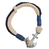 Anchor, Jesus Anchor of My Soul, Bracelet, Navy Blue