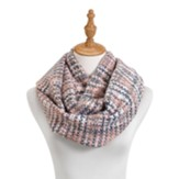 Woven Threads Infinity Scarf, Pink