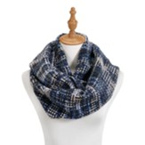 Woven Threads Infinity Scarf, Blue