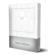 Sagrada Biblia Católica, edición compacta, cuero de imitación blanco (Holy Catholic Bible, Compact Edition, White Imitation Leather with Gift Box)