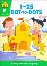 1-25 Dot-to-Dot, Ages 4-6