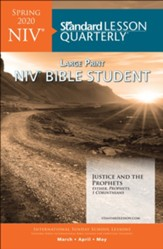 Standard Lesson Quarterly: NIV ® Large Print Bible Student, Spring 2020