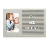 Letter Board Photo Frame, Gray