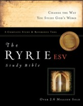 ESV Ryrie Study Bible, Hardback, Thumb-Indexed  - Slightly Imperfect