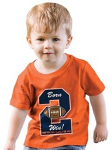 Born 2 Win Shirt, Orange, 18 Months