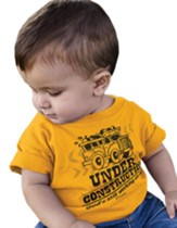 Under Construction Shirt, Gold, 12 Months
