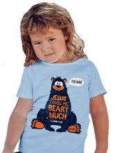 Loves Me Beary Much Shirt, Light Blue, 18 Months