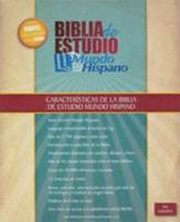 Biblia de Estudio Mundo Hispano, Piel Europea Marrón  (Mundo Hispano Study Bible, Brown Imitation Leather)