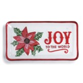 Joy to the World Poinsettia Platter