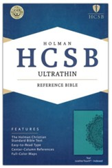 HCSB Ultrathin Reference Bible, Teal LeatherTouch, Thumb-Indexed