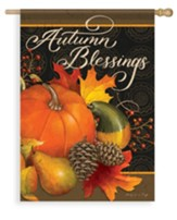 Fruits of Fall, Autumn Blessings Flag, Large