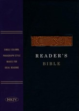 NKJV Reader's Bible, Black and Brown Imitation Leather