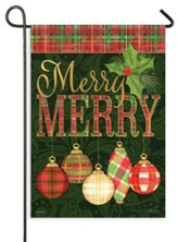 Merry Merry Ornaments Flag, Small