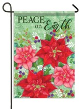 Poinsettia Bramble, Peace On Earth Flag, Small