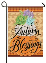 Pretty Pumpkin Stack, Autumn Blessings Flag, Small
