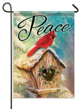 Peace Birdhouse Flag, Small