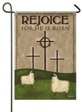 Rejoice, He Is Risen, Calvary, Small Flag