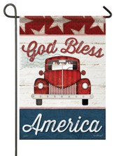 God Bless America (truck) Small Flag