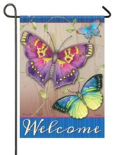Welcome, Garden Jewel Butterflies, Small Flag