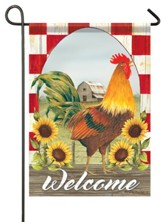 Welcome, Sunflower, Farm, Flag, Small