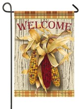 Welcome, Harvest Corn, Flag, Small