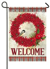 Winterberry Welcome Flag, Small