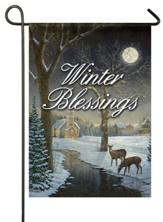 Winter Blessings, Deer, Flag, Small