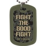 Fight the Good Fight Faith Tag Necklace