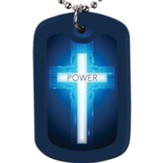 Power, Cross, Faith Tag Necklace