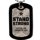 Stand Strong Faith Tag Necklace