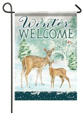 Winter Welcome, Deer, Flag, Small