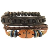Copper Cross Bracelet Set