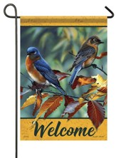 Welcome, Beech Leaf Birds, Flag, Small