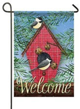 Welcome, Chickadees and Pine, Flag, Small